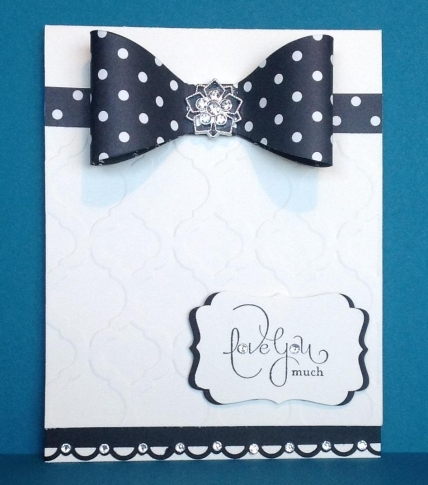 black card bow