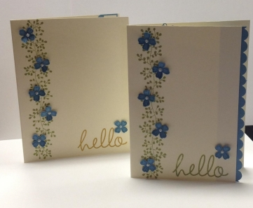 blue flower card